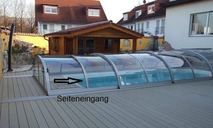 Exclusive schwimmbad berdachung pool dach pool abdeckung for Billige schwimmbecken