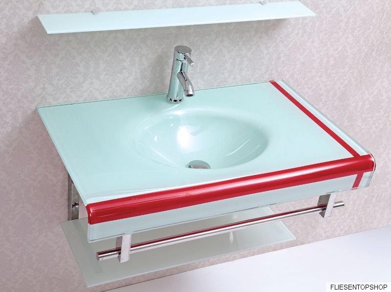 waschtisch regal glasablage wt3011 inl spiegel glas waschbecken t rkis rot ebay. Black Bedroom Furniture Sets. Home Design Ideas