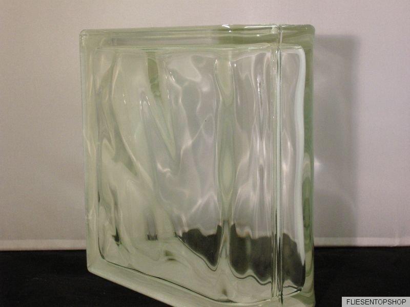 glasbaustein wei silber klar glas wolke gewolkt 19x19x8cm abschluss endstein kaufen bei. Black Bedroom Furniture Sets. Home Design Ideas