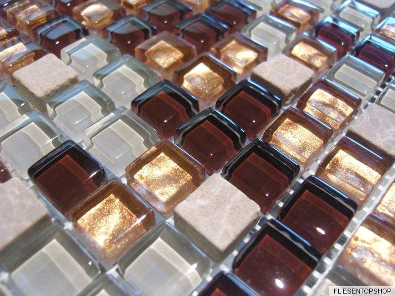 glasmosaik naturstein marmor fliesen beige gold weiß mosaik dusche ... - Naturstein Dusche Bad 2