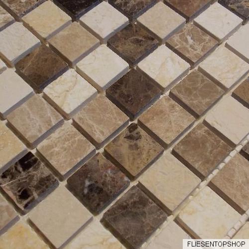 Dusche Naturstein Mosaik : Dusche Naturstein Mosaik : Naturstein Marmor Mosaik Fliesen beige