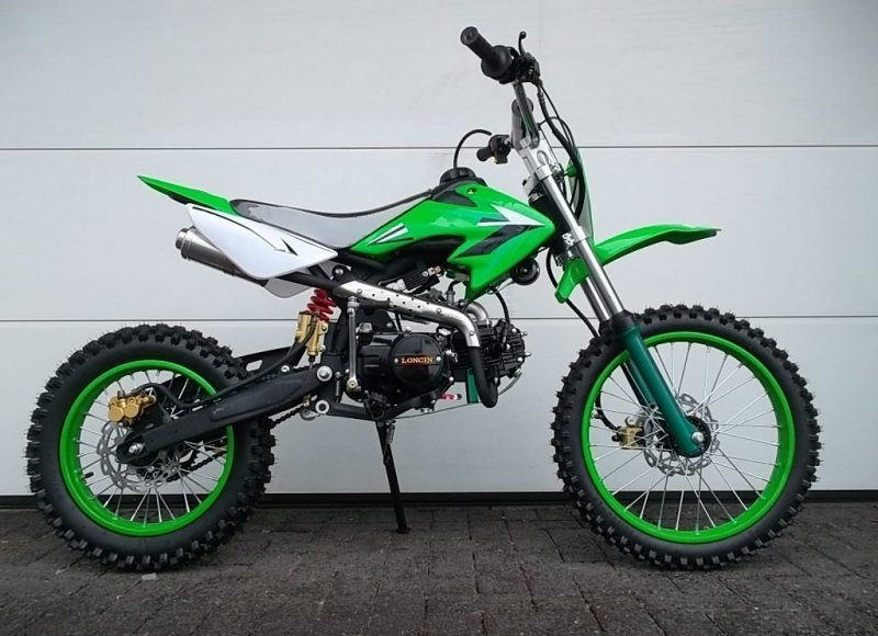 pitbike dirtbike crossbike 125ccm 4 takt motor enduro. Black Bedroom Furniture Sets. Home Design Ideas
