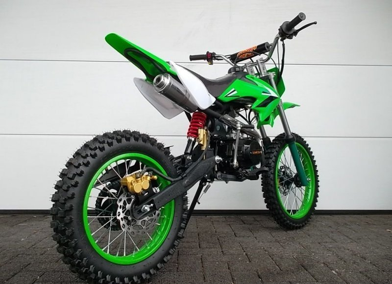 pitbike dirtbike 125ccm crossbike kinder cross motocross. Black Bedroom Furniture Sets. Home Design Ideas