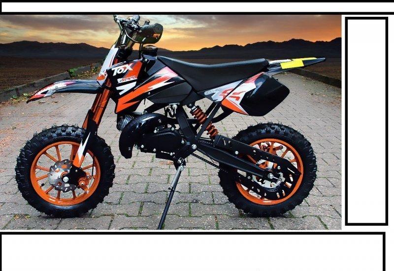 crossbike pocket bike coyote kinder motorrad cross 49ccm. Black Bedroom Furniture Sets. Home Design Ideas