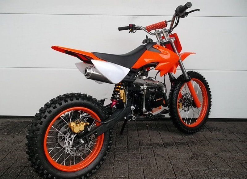 pitbike dirtbike 125ccm crossbike kinder cross motocross enduro 4 takt motor ebay. Black Bedroom Furniture Sets. Home Design Ideas