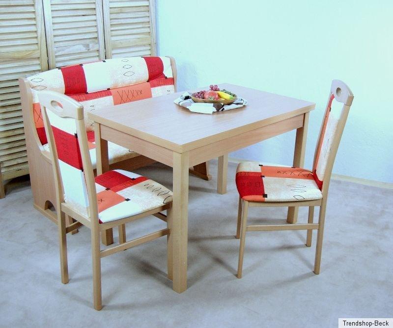 essgruppe 4 tlg truheneckbank eckbank st hle stuhl tisch esstisch sitzgruppe ebay. Black Bedroom Furniture Sets. Home Design Ideas