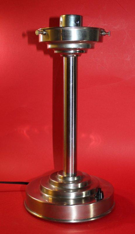 art deco bauhaus tischleuchte stehlampe opalglas vernickeltes messing tischlampe ebay. Black Bedroom Furniture Sets. Home Design Ideas