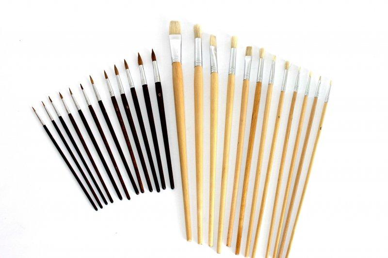 pinselset 24 st ck 12 rundpinsel 12 flachpinsel k nstlerpinsel lfarbe acryl gebraucht kaufen. Black Bedroom Furniture Sets. Home Design Ideas