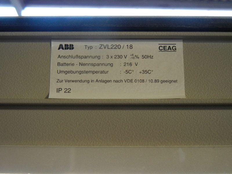 abb ceag zvl220 18 notbeleuchtungsanlage notstromanlage ebay. Black Bedroom Furniture Sets. Home Design Ideas