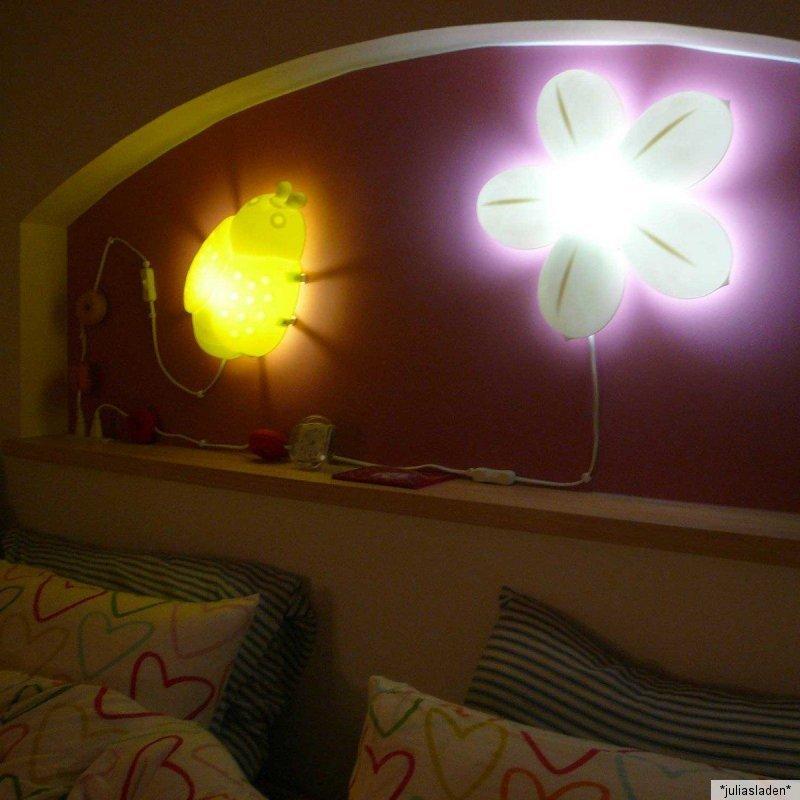 ikea smila blomma blume rosa gr n wandlampe wandleuchte lampe bl te ebay. Black Bedroom Furniture Sets. Home Design Ideas