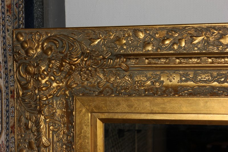 grosser spiegel wandspiegel farbe shiny gold mit. Black Bedroom Furniture Sets. Home Design Ideas