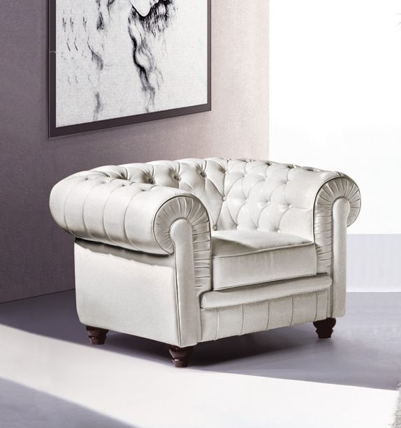 chesterfield 1 sitzer modell ys 2008 italy leder weiss seddiner see. Black Bedroom Furniture Sets. Home Design Ideas