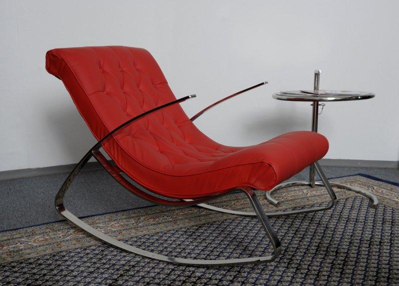 Schaukelstuhl lounge relax liege design klassiker in wei for Schaukelstuhl rot