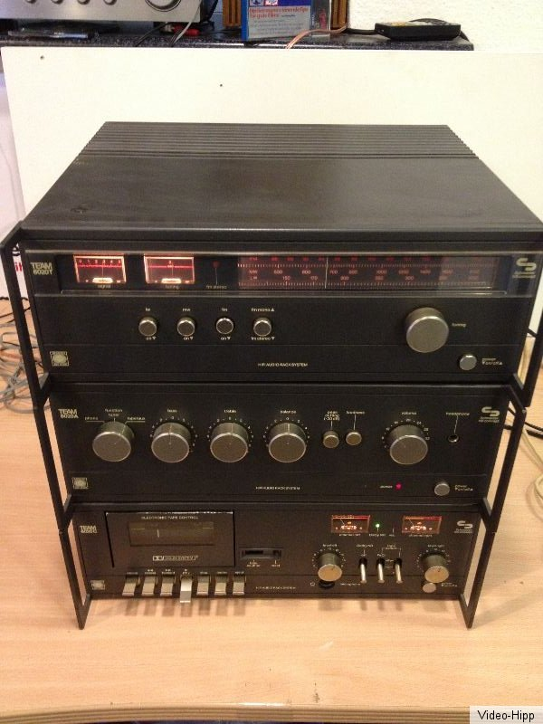 team 6020 schneider hifi konzept studio tuner verst rker tapedeck top vintage ebay. Black Bedroom Furniture Sets. Home Design Ideas