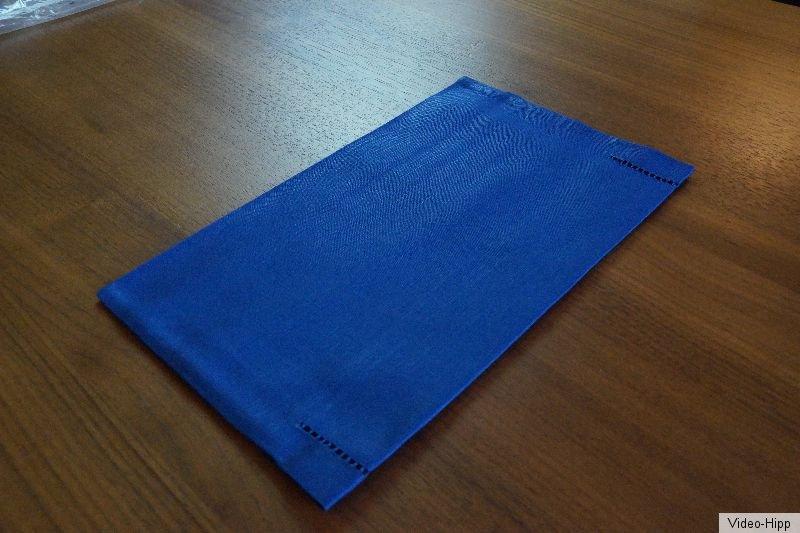 Halbleinen bestecktasche jeansblau 16 x 26 gastronomie for Gastronomie deko