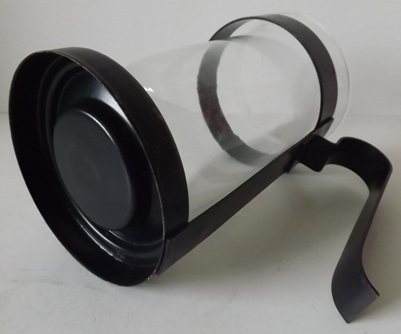 windlicht glas halterung gusseisen schwarz terrasse. Black Bedroom Furniture Sets. Home Design Ideas