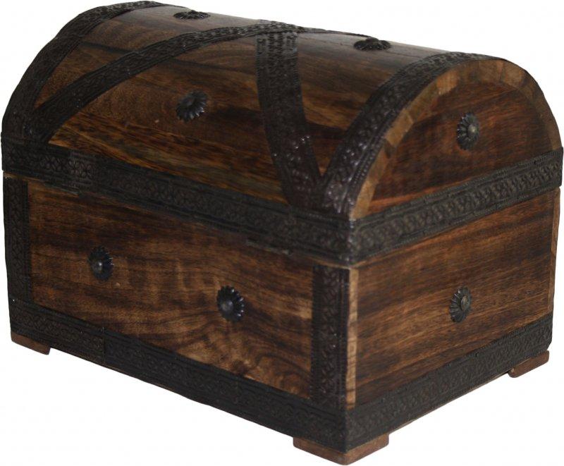 schatztruhe gro holztruhe mit schloss aus holz schatzkiste 28 x 20 5 x 21 cm ebay. Black Bedroom Furniture Sets. Home Design Ideas