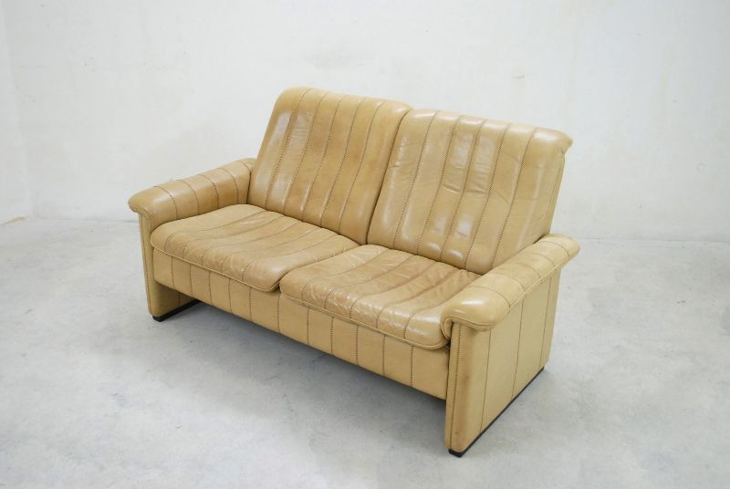 de sede ds dickleder vintage sofa ledersofa 1 2 ebay. Black Bedroom Furniture Sets. Home Design Ideas