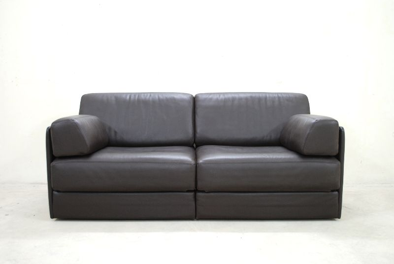 de sede ds 76 sofa ledersofa schlafsofa dunkelbraun np eur top ebay. Black Bedroom Furniture Sets. Home Design Ideas