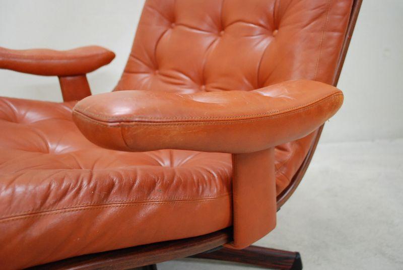 swedish lounge chair g te m bler n ssj vintage sessel ledersessel cognac brandy ebay. Black Bedroom Furniture Sets. Home Design Ideas