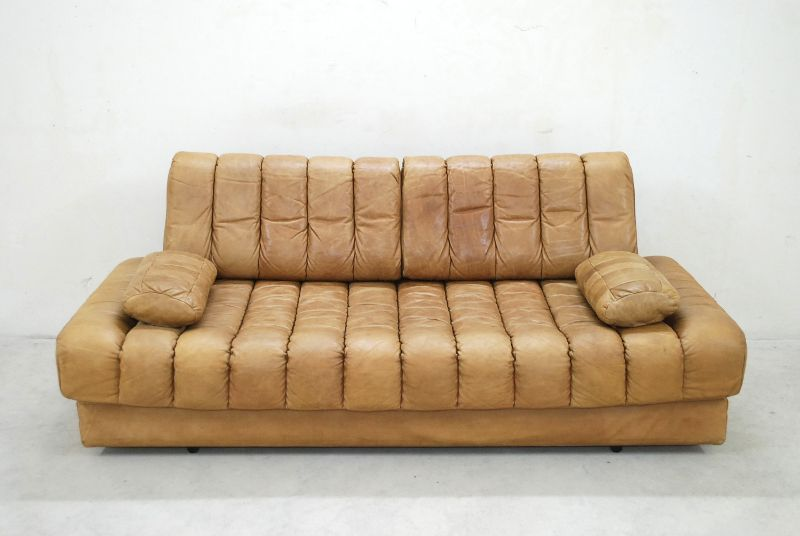 de sede ds 85 vintage daybed sofa ledersofa schlafsofa karamell ebay. Black Bedroom Furniture Sets. Home Design Ideas