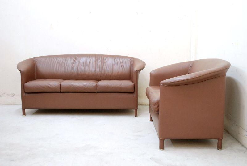 wittmann sofa aura 3er 2er leder paolo piva ebay. Black Bedroom Furniture Sets. Home Design Ideas