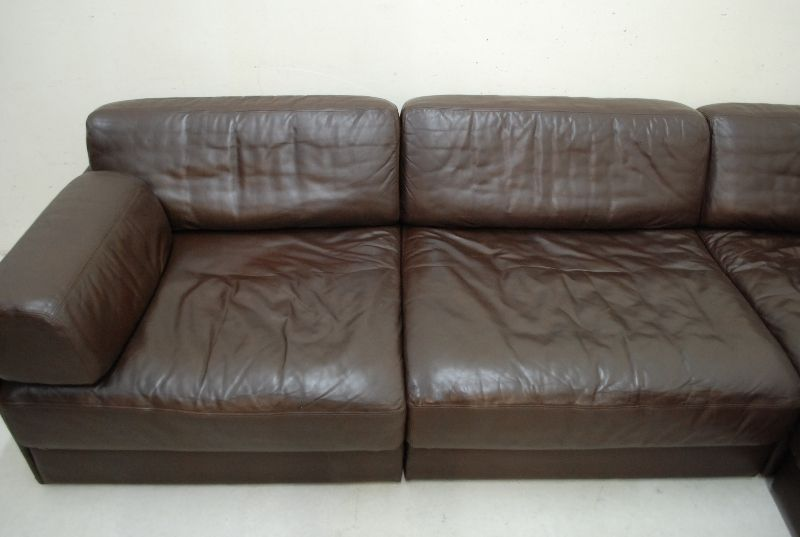 de sede ds 76 sofa ledersofa 4x modular schlafsofa braun np eur ebay. Black Bedroom Furniture Sets. Home Design Ideas