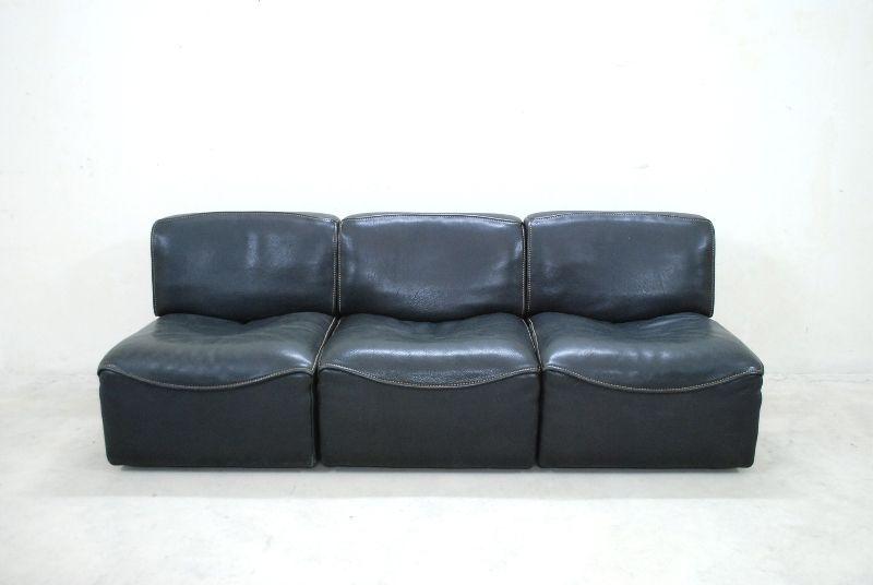 De sede ds 15 sofa vintage modular wohnlandschaft neck for Wohnlandschaft retro