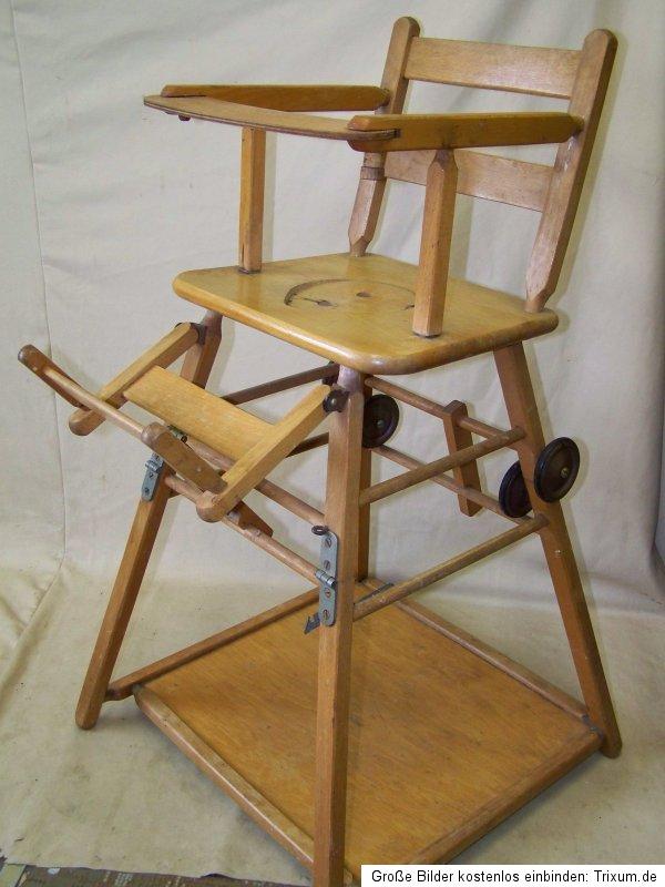 alter kinderhochstuhl kinderstuhl holz kinder stuhl. Black Bedroom Furniture Sets. Home Design Ideas
