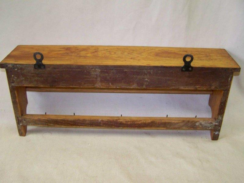 Wandregal Küche Antik ~  altes Küchenregal, Regal Küche antik, Holz Wandregal, Tuchhalter