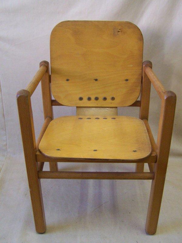 ddr kinderstuhl heidi von hans brockhage holz stuhl ebay. Black Bedroom Furniture Sets. Home Design Ideas