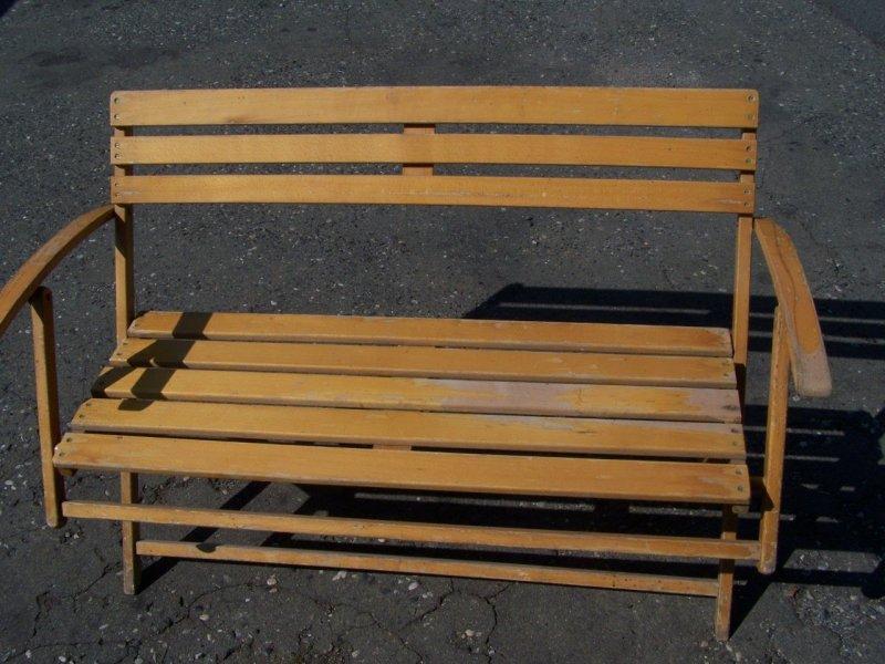 alte ddr gartenbank klappbar holz bank garten holzbank gartenklappbank ebay. Black Bedroom Furniture Sets. Home Design Ideas