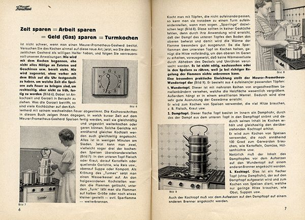 neues kochen backen mit prometheus gasherd werbung reklame 1936. Black Bedroom Furniture Sets. Home Design Ideas