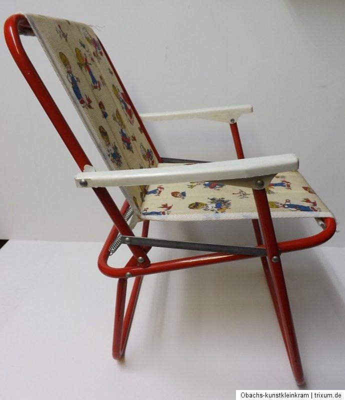 kinder campingstuhl klappstuhl 70er kunststoff bezug. Black Bedroom Furniture Sets. Home Design Ideas
