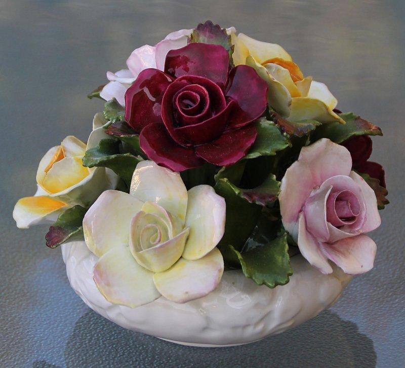 aynsley england porzellan rosenbouqet handbemalt fine bone china ebay. Black Bedroom Furniture Sets. Home Design Ideas