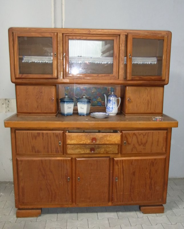 alter k chenschrank shabby chic vintage omas altes k chenb ffet ebay. Black Bedroom Furniture Sets. Home Design Ideas