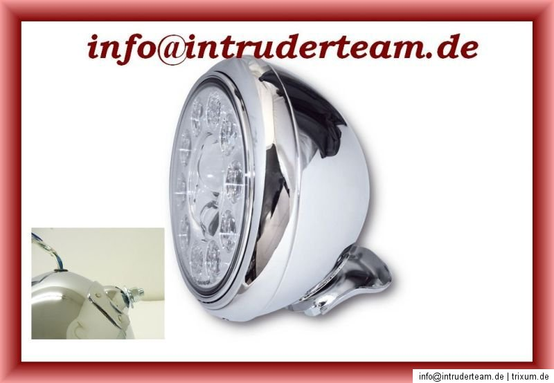 Scheinwerfer HD STYLE LED chrom HIGH QUALITY Intruder Yamaha Harley