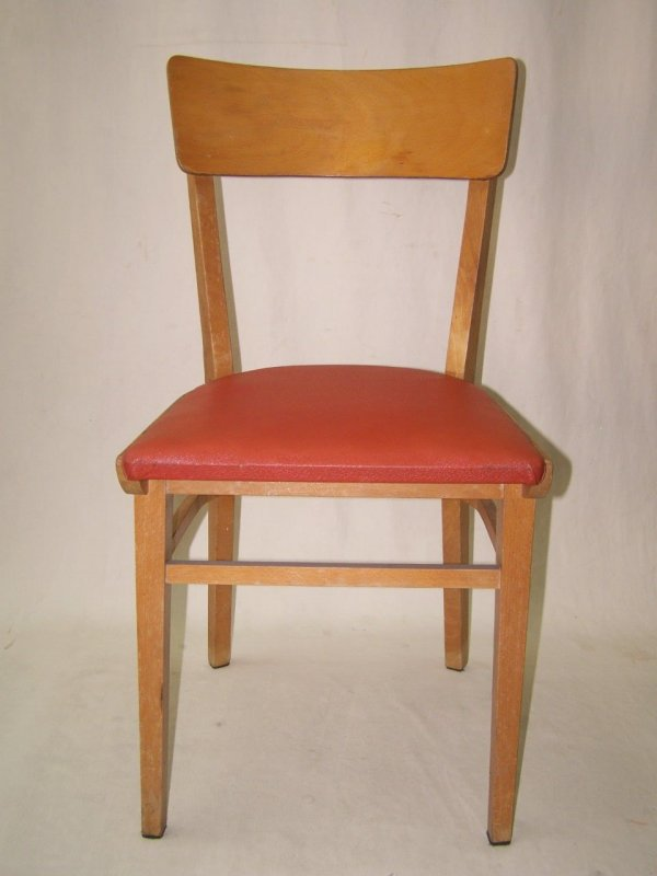 chair leather red iconic vintage design 50s kitchen chair ebay