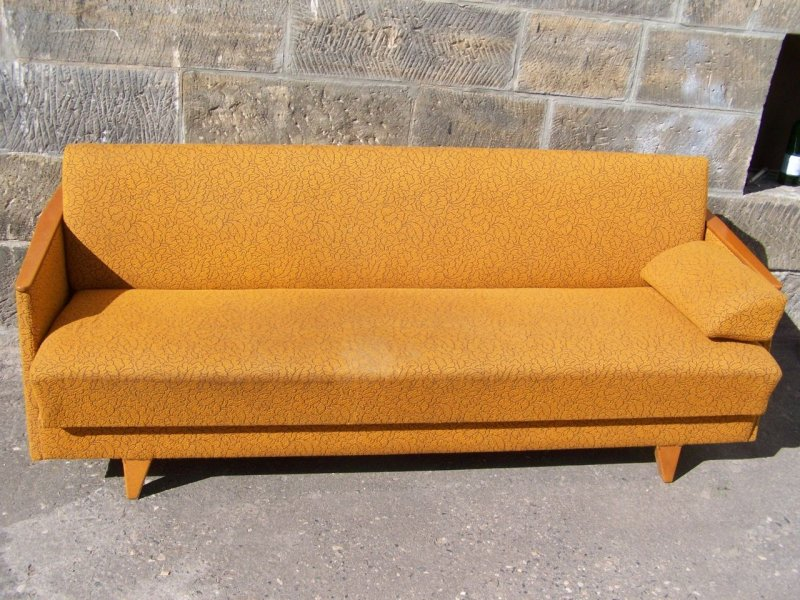 50er jahre sofa schlafsofa gelb elegant webstoff sofa awesome size
