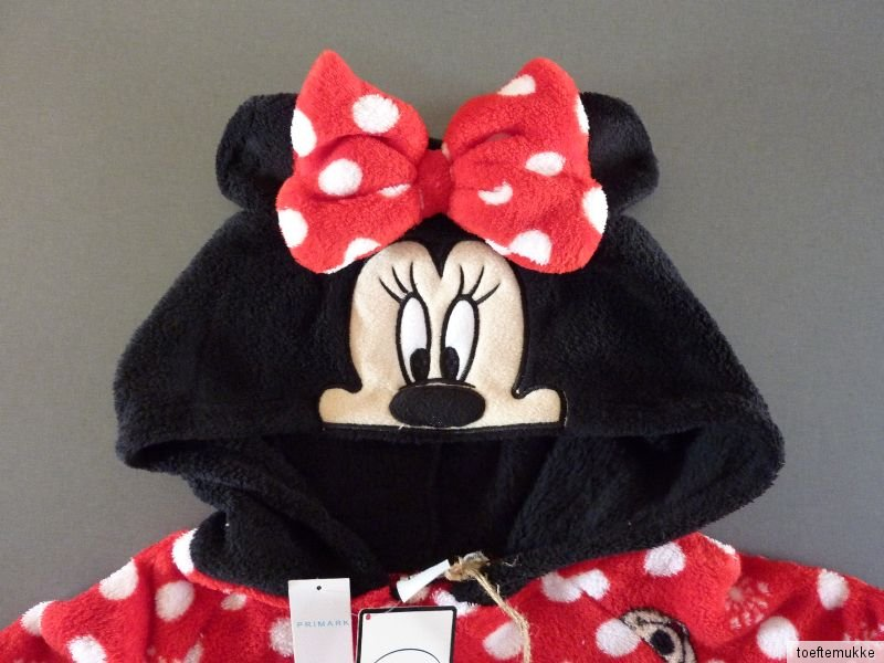 new primark fleece jumpsuit disney minnie mouse mouse. Black Bedroom Furniture Sets. Home Design Ideas