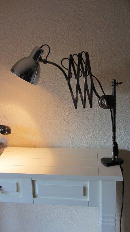 Hala scherenarm industrie lampe werkstattlampe for Schreibtisch 40er