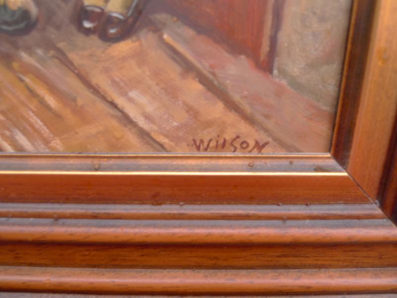 sch nes altes gem lde bayrisches liebespaar signiert wilson ebay. Black Bedroom Furniture Sets. Home Design Ideas