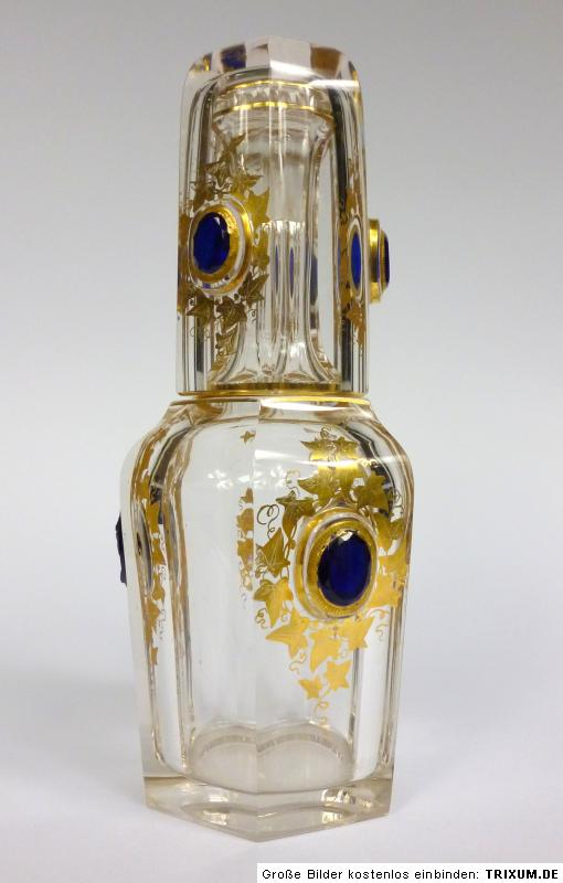 karaffe mit glas um 1850 medaillon gemme cameo ebay. Black Bedroom Furniture Sets. Home Design Ideas