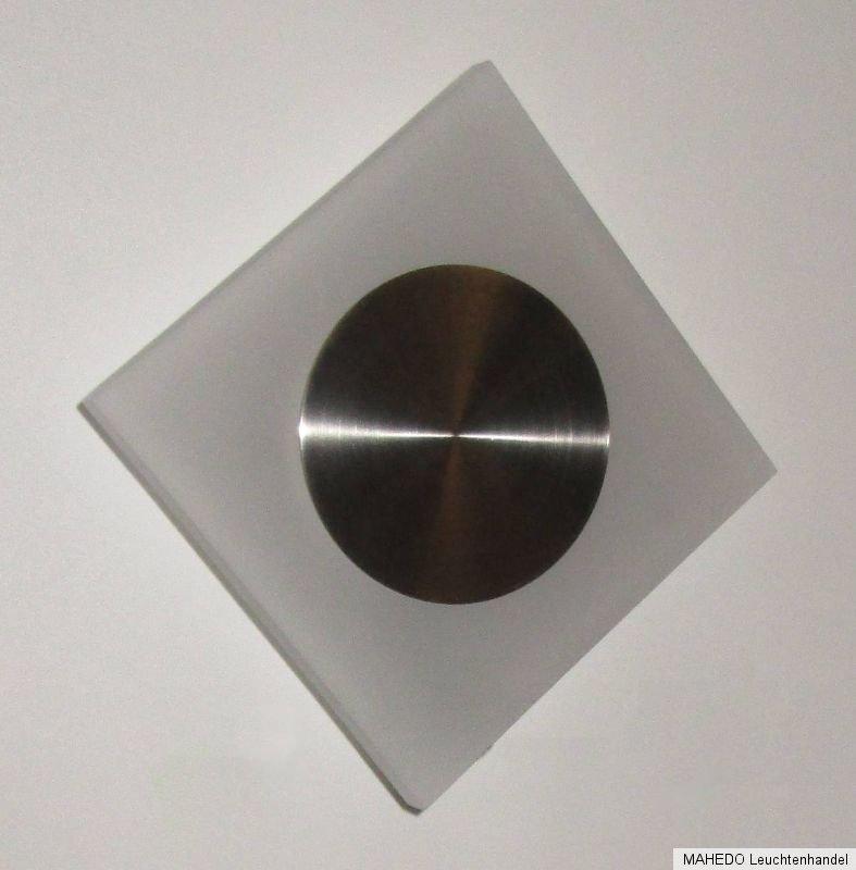 design wandleuchte wandlampe nickel geb rstet glas. Black Bedroom Furniture Sets. Home Design Ideas