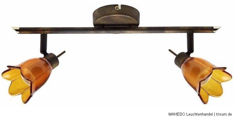 deckenleuchte deckenlampe strahler emeli 2x g9 rost braun. Black Bedroom Furniture Sets. Home Design Ideas