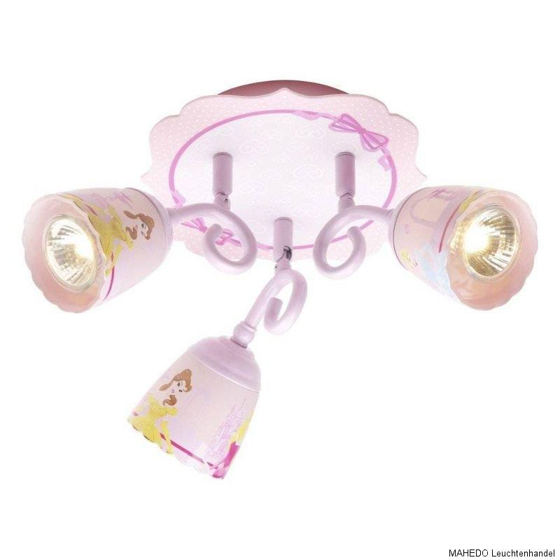 kinderlampe deckenleuchte spot kinderzimmerlampe disney prinzessin rondell rosa ebay. Black Bedroom Furniture Sets. Home Design Ideas