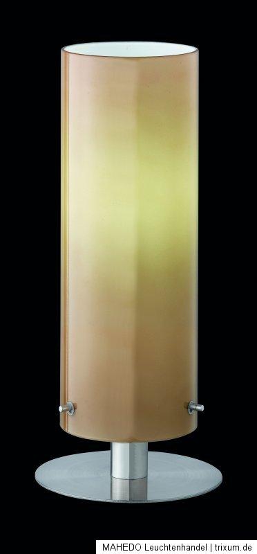 design tischleuchte tischlampe nachttischlampe trio energiesparlampe chrom beige ebay. Black Bedroom Furniture Sets. Home Design Ideas