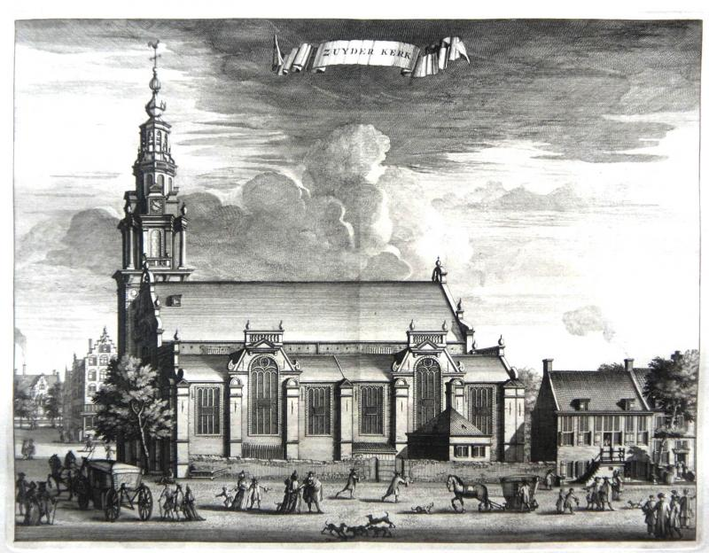 holland amsterdam kupferstich graphik grafik 1730 zuyder kerk niederlande ebay. Black Bedroom Furniture Sets. Home Design Ideas