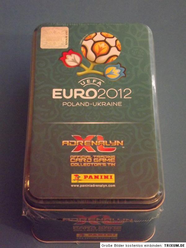 Details About Panini EM Adrenalyn XL Euro 2012   Tin Sammeldose Neu