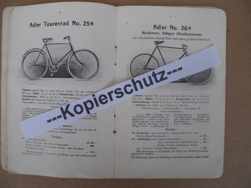 original prospekt adler r der fahrrad katalog 1909 fahrr der kleyer heft ebay. Black Bedroom Furniture Sets. Home Design Ideas